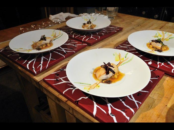 fish and sauce dish by private chefs